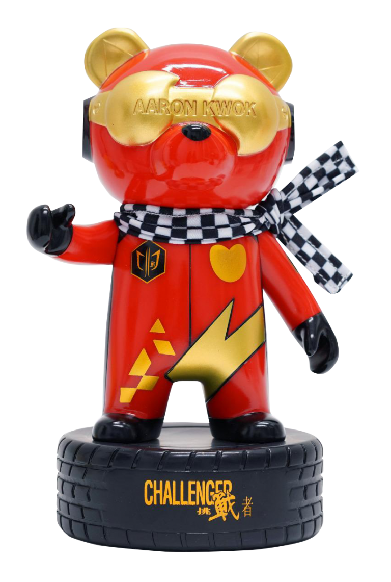 AARON X iPANDAS「挑戰者盃」限量手辦模型 (紅)